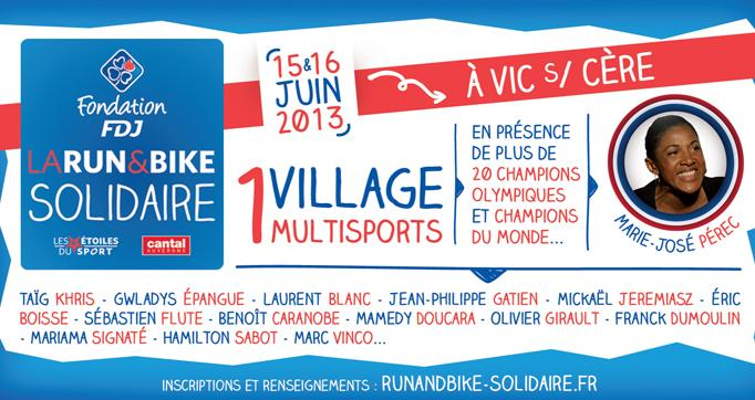 "Photo actualité : La ""Run and bike solidaire"""