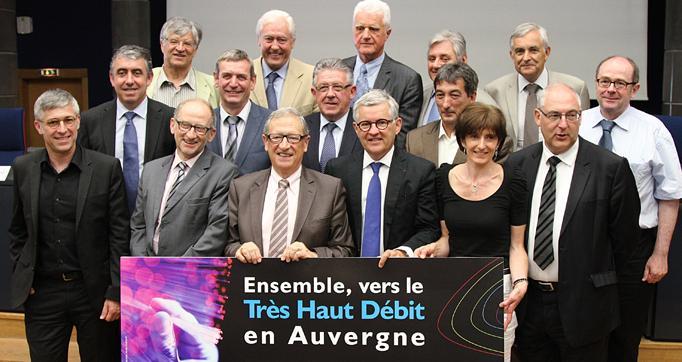 Photo actualité : Très Haut Débit : les 4 départements d'Auvergne et la Région en tête du peloton