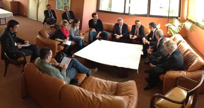 Photo actualité : Les Présidents des 4 Départements et de la Région se réunissent dans le Cantal