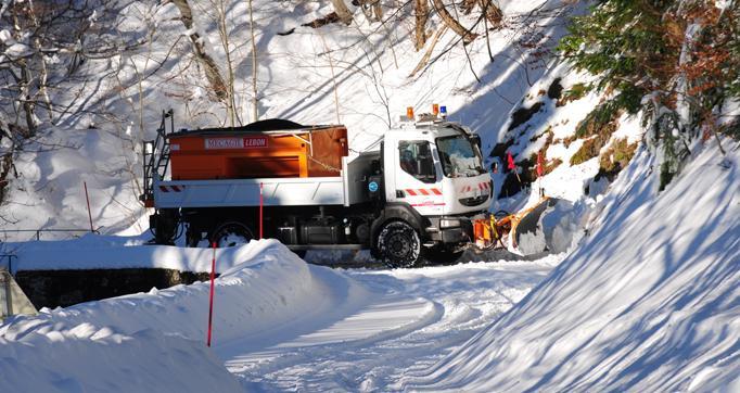 Photo actualité : Viabilité hivernale dans le Cantal
