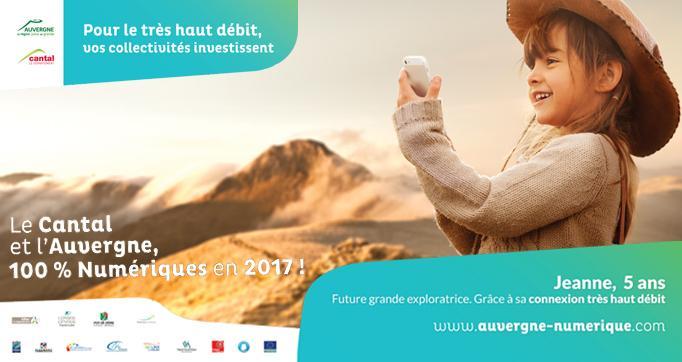 Photo actualité : Le Très Haut débit pour 100% des cantaliens en 2017