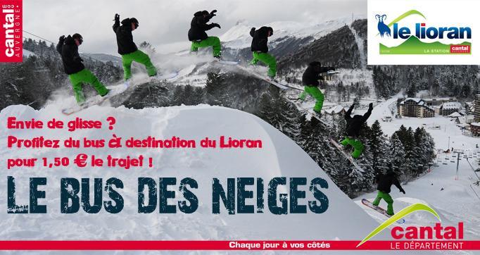 Photo actualité : Envie de glisse ? Profitez du bus des neiges à destination du Lioran