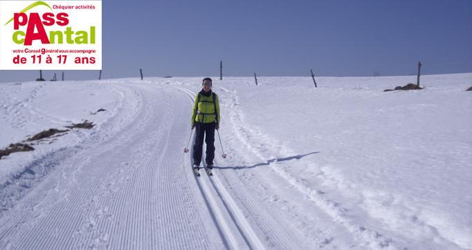 Photo actualité : Pensez à votre chéquier activités PASSCANTAL pour découvrir le ski de fond