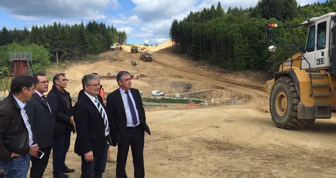 Photo actualité : L'ouverture du Cantal et d'Aurillac vers l'A89 et l'A20 sur la bonne voie