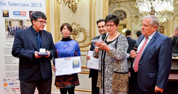 Photo actualité : Prix Territoria d'or 2015 pour CyberCantal Télémédecine