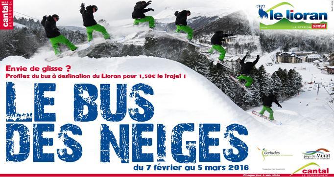 Photo actualité : Envie de glisse ? profitez du bus des neiges a destination du lioran