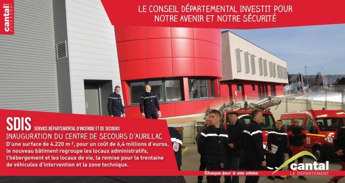 Photo actualité : Le Centre de Secours d'Aurillac inauguré