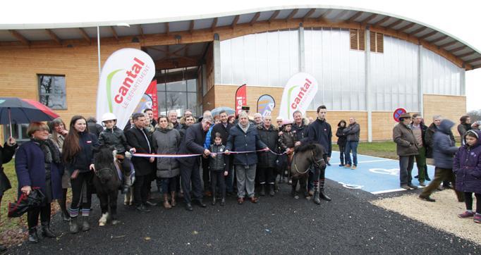 Photo actualité : L'Ecole départementale d'équitation a été inaugurée samedi 28 janvier 2017