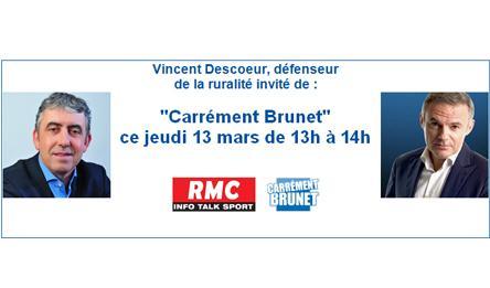 Vincent Descoeur défend la ruralité dans Carrément Brunet sur RMC
