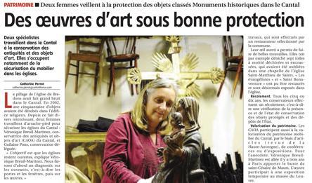 Le Conseil départemental du Cantal engagé dans la protection du patrimoine