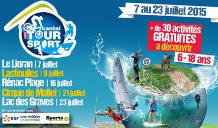 Cantal Tour Sport 2015, c'est parti !