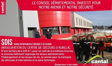 Inauguration du centre d'incendie et de secours d'Aurillac