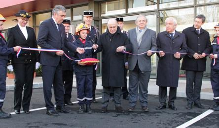 Inauguration du Centre d'Incendie et de Secours d'Aurillac par Bernard Cazeneuve, Ministre de l'Intérieur