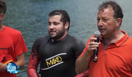 Pierre Viers bat le record du monde de natation pour transplantés.