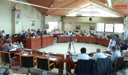 Séance publique du Conseil départemental du Cantal du vendredi 29 septembre 2017.