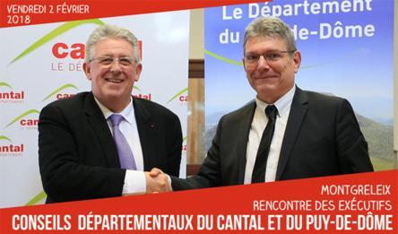 Main dans la main, le Cantal et le Puy-de-Dôme travaillent ensemble