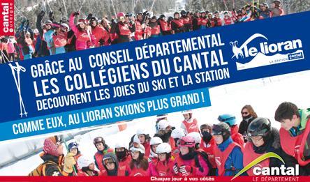 Grâce au Conseil départemental, les collégiens du Cantal découvrent les joies du ski et la Station
