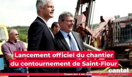 Avec le Conseil départemental et la Région, le contournement de Saint-Flour, c'est maintenant !